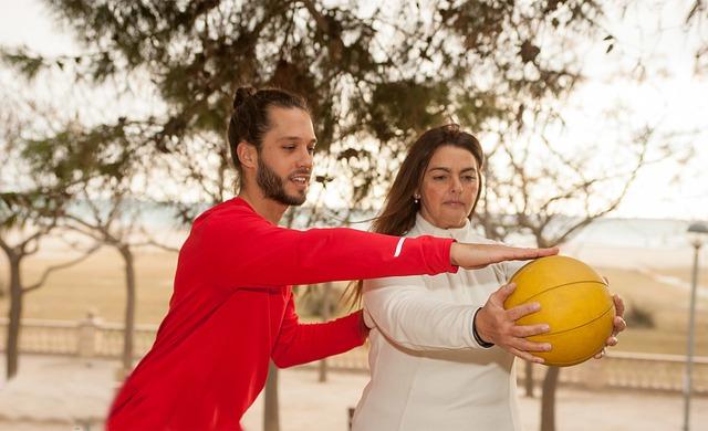 muž a žena při cvičení
